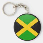 Círculo de la bandera de la calidad de Jamaica Llavero Personalizado