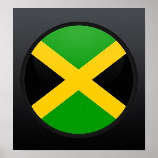 Círculo de la bandera de la calidad de Jamaica Impresiones