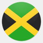 Círculo de la bandera de la calidad de Jamaica Pegatinas Redondas
