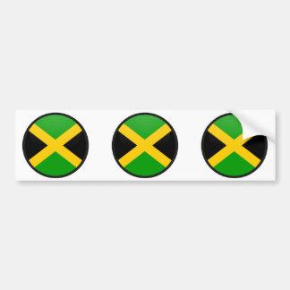 Círculo de la bandera de la calidad de Jamaica Pegatina Para Auto