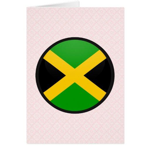 Círculo de la bandera de la calidad de Jamaica Felicitacion