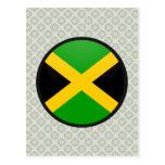 Círculo de la bandera de la calidad de Jamaica Tarjeta Postal