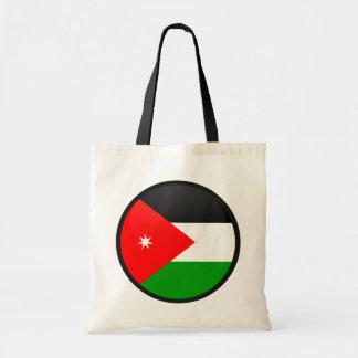 Círculo de la bandera de la calidad de Jordania Bolsas