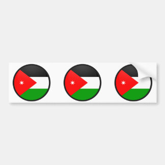Círculo de la bandera de la calidad de Jordania Etiqueta De Parachoque