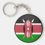 Círculo de la bandera de la calidad de Kenia Llavero Personalizado