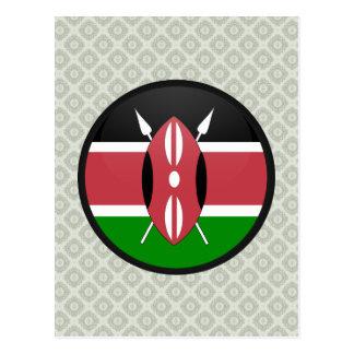 Círculo de la bandera de la calidad de Kenia Tarjetas Postales