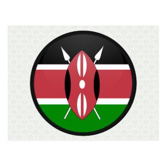 Círculo de la bandera de la calidad de Kenia Tarjeta Postal