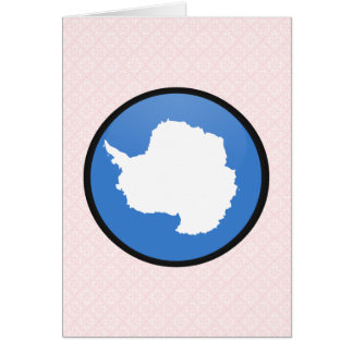 Círculo de la bandera de la calidad de la Antártid Tarjeta