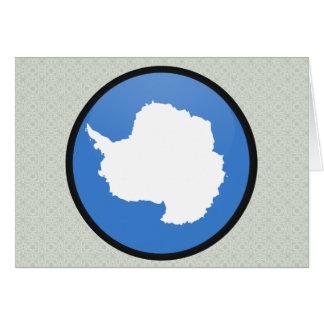 Círculo de la bandera de la calidad de la Antártid Tarjetón