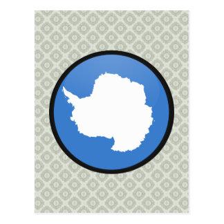 Círculo de la bandera de la calidad de la Antártid Tarjeta Postal