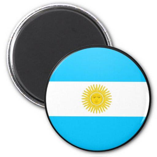 Círculo de la bandera de la calidad de la Argentin Imán De Frigorifico