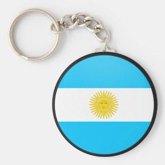 Círculo de la bandera de la calidad de la Argentin Llavero