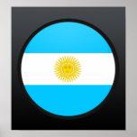 Círculo de la bandera de la calidad de la Argentin Poster