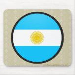 Círculo de la bandera de la calidad de la Argentin Tapete De Ratón