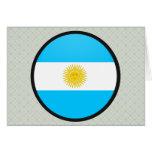 Círculo de la bandera de la calidad de la Argentin Tarjeta