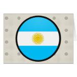 Círculo de la bandera de la calidad de la Argentin Tarjetón