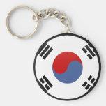Círculo de la bandera de la calidad de la Corea de Llaveros