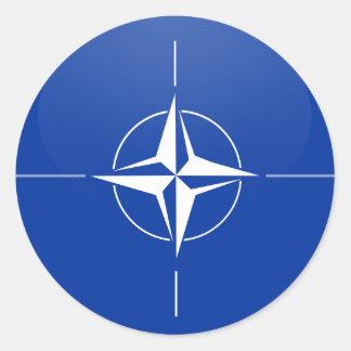 Círculo de la bandera de la calidad de la OTAN Pegatina Redonda