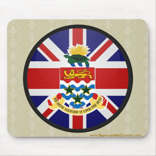 Círculo de la bandera de la calidad de las Islas Alfombrillas De Raton