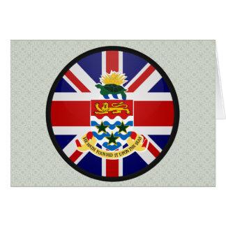 Círculo de la bandera de la calidad de las Islas C Tarjeta