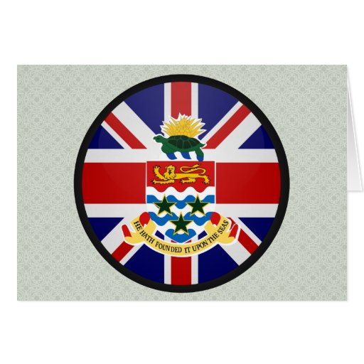Círculo de la bandera de la calidad de las Islas C Tarjeta De Felicitación