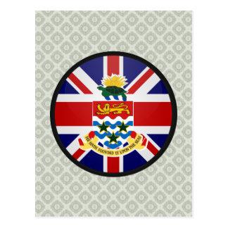 Círculo de la bandera de la calidad de las Islas C Postal