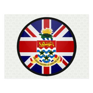 Círculo de la bandera de la calidad de las Islas C Tarjetas Postales