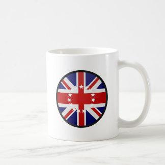 Círculo de la bandera de la calidad de las islas d taza de café