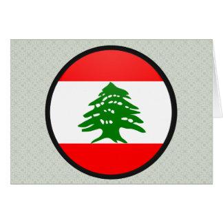Círculo de la bandera de la calidad de Líbano Felicitaciones