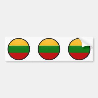 Círculo de la bandera de la calidad de Lituania Pegatina De Parachoque