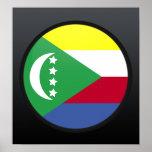 Círculo de la bandera de la calidad de los Comoro Poster