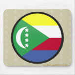Círculo de la bandera de la calidad de los Comoro Tapete De Ratones