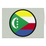 Círculo de la bandera de la calidad de los Comoro Tarjetas