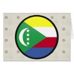 Círculo de la bandera de la calidad de los Comoro Felicitación