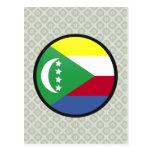 Círculo de la bandera de la calidad de los Comoro Postal