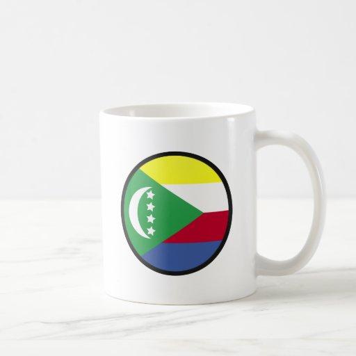 Círculo de la bandera de la calidad de los Comoro Taza De Café