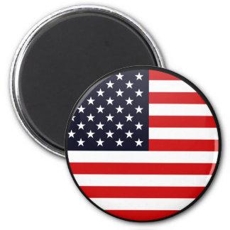 Círculo de la bandera de la calidad de los E E U U Iman