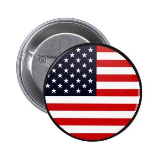 Círculo de la bandera de la calidad de los E.E.U.U Pin Redondo De 2 Pulgadas