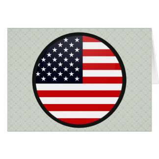 Círculo de la bandera de la calidad de los E.E.U.U Tarjeta De Felicitación