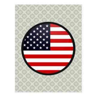 Círculo de la bandera de la calidad de los E.E.U.U Tarjeta Postal