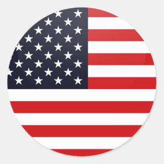 Círculo de la bandera de la calidad de los pegatina redonda