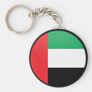 Círculo de la bandera de la calidad de los Uae Llavero Redondo Tipo Pin