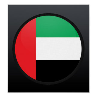 Círculo de la bandera de la calidad de los Uae Poster