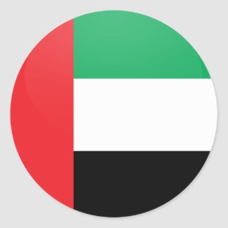 Círculo de la bandera de la calidad de los Uae Pegatina Redonda