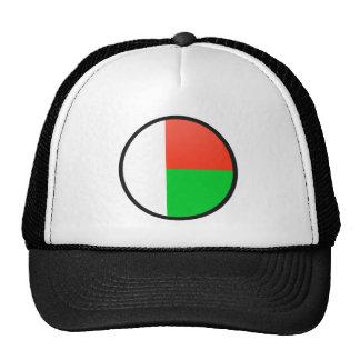 Círculo de la bandera de la calidad de Madagascar Gorros