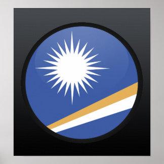 Círculo de la bandera de la calidad de Marshall Is Póster