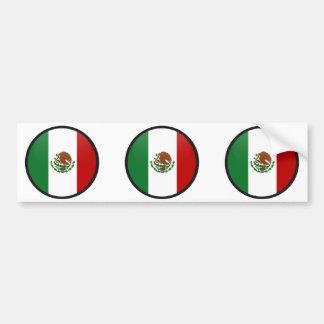 Círculo de la bandera de la calidad de México Pegatina Para Auto