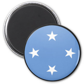 Círculo de la bandera de la calidad de Micronesia Imán Redondo 5 Cm
