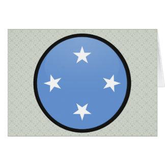 Círculo de la bandera de la calidad de Micronesia Tarjeta De Felicitación