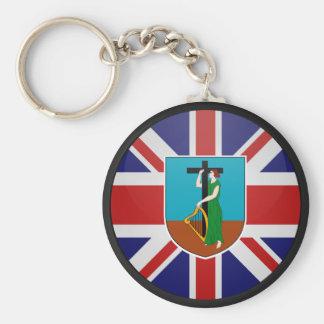 Círculo de la bandera de la calidad de Montserrat Llaveros Personalizados